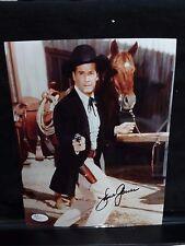 James Garner Maverick Signed 8x10 Color Photo JSA Certified # R02491