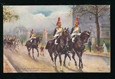 Artist HARRY PAYNE Horses Guards Tuck Oilette #9081 PPC Unposted