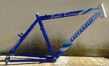 "Telaio Bici alluminio Saccarelli Full Time Mountain Bike aluminium Frame 26"" MTB"