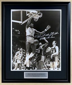 "Wilt Chamberlain Signed Inscribed ""Wilt the Stilt"" Framed 16x20 Photo PSA/DNA"