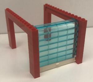 Lego Red Sliding Garage Door Kit: city town full assembly: fire station