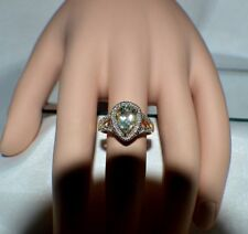 Exquisito 1.75Ct. Amatista Natural Original .19Ct. Diamante Anillo de Cóctel