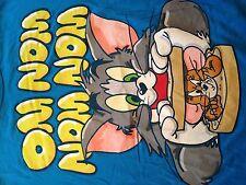 Tom & Jerry Om Nom Nom Nom Mouse Sammich Cartoon T Shirt. Sz. Medium