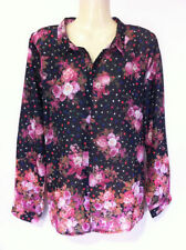 Career Floral Regular Size Button Down Shirts for Women