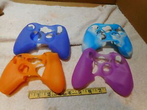 lot of 4 Silicone Soft Rubber Gel Grip Case Skin Cover for Xbox 360 Controller