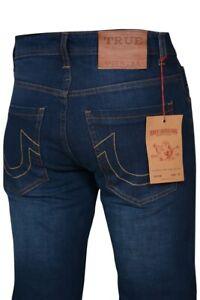 Men's True Religion Rocco Slim Fit Stretch Blue Jeans W30-W38, Leg 31 RRP £169
