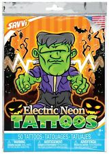 Halloween Themed Temporary Tattoos by SAVVi - Electric Neon