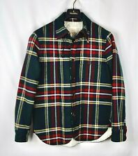 New Brooks Brothers Black Fleece Thom Browne Wool Shirt Quilted Jacket BB1 Small