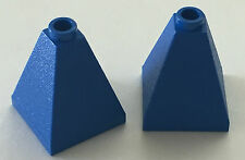 *NEW* 2 Pieces Lego BLUE 2x2x2 SLOPE 75 Quadruple Convex