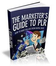 The Marketer's Guide To PLR Ebook On CD $5.95 Plus Resale Rights Free Shipping