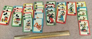 EARLY WALT DISNEY CARD GAME MICKEY MINNIE MOUSE PLUTO OTHER CARTOON CHARACTERS