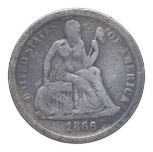 Full Liberty - 1866-S Seated Liberty Silver Dime *189