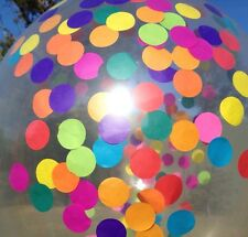 Rainbow Confetti Balloon Clear Giant 45cm Kids Party 1st Birthday