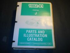 1982 83 84 85 86 87 88 89 90 91 PONTIAC PARTS AND ILLUSTRATION CATALOG  SUNBIRD