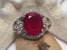 WOW! VINTAGE STS SIGNED STERLING SILVER 925 RING SZ 6 RED ❣️QUARTZ LAB 🔬