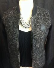 VANS WOMENS ROUTE 99 JACKET BLACK SMALL WOOL MIX NWT -H
