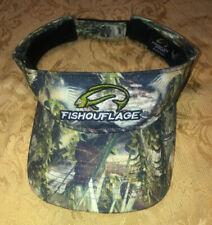 Mens Fishouflage hat Visor Camo Camouflage