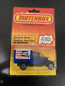 VINTAGE MATCHBOX MODEL A FORD DELIVERY TRUCK VAN CHAMPION MB38 MOC on Card 1983