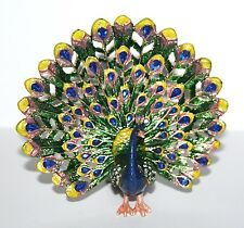 More details for peacock trinket box / ornament gift *new* boxed