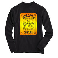 MOSCHINO TEDDY BEAR COUTURE - T SHIRT Long Sleeves Black All Size