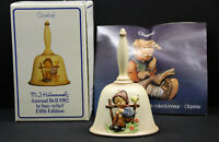 Vintage Goebel M.J Hummel Annual Bell 1982 In Bas- Relief Fifth Edition Germany