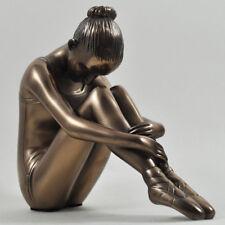 Bronze Statue Young Girl Ballerina Ballet Sculpture Figurine Ornament Gift 01021