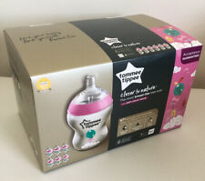 Tommee Tippee Closer To Nature Decorated Girl Bottle - 6 x 260ml