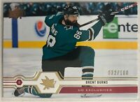 2019-20 Brent Burns Upper Deck UD Exclusives #165 Sharks #/100 Rare