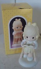 Precious Moments Porcelain Figure 1986 He Walks With Me With Box