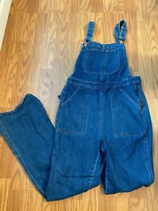 Womens MADEWELL denim jean overalls sz medium waist 30