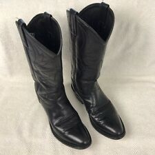 Old West Smooth Leather Cowboy Boots SCM7010 Black Mens Size 6 28052011