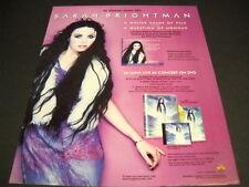 SARAH BRIGHTMAN in stores June 5, 2001 w/ La Luna PROMO POSTER AD mint condition