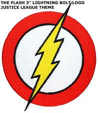 "DC Comics Flash Lightning Bolt Logo Emblem Iron/Sew-On 3"" Patch Superhero"
