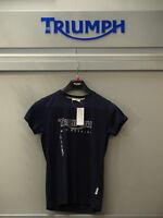 GENUINE Triumph Ladies Logo #2 Navy T Shirt  BNWT 50% OFF