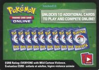 Pokemon 13 Card lot of BreakPOINT Online Booster TCG Code Cards