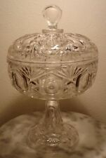 Riverside Glass Derby Footed Covered Compote Rare