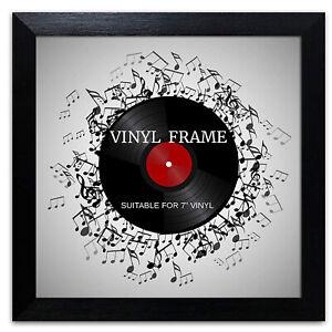 "Oxford 7"" Vinyl Single Music Record Frame Square Black Memorabilia Wall Display"