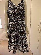 BNWT RRP £69 M&S Black & White Lace Dress Size Petite Size 14 petite