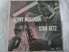 GERRY MULLIGAN MEETS STAN GETZ VINYL LP ALBUM 1957 VERVE RECORDS MONO BALLAD