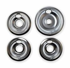 """Chrome Drip Pans, 10124Xz Whirlpool, Large 8"""" 3 Small 6"""" Set of 4, Kitchen, New!"""