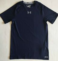 NEW Boys Youth Under Armour HeatGear UPF30 Short Sleeve Fitted Shirt 1253815 XL