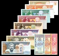 A Set of 11 PCS, Mongolia 1 Mongo -1000 Tugrik,Banknotes, UNC
