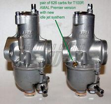 Pair Amal Premier Carburettor 626 for Triumph T100R orig spezifications Daytona