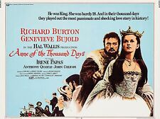 """Anne of a Thousand Days 16"""" x 12"""" Reproduction Movie Poster Photograph"""