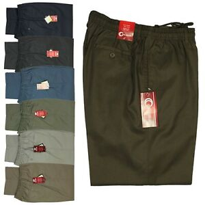 Mens Big Size Carabou Rugby Trousers Elasticated Waist Comfort Casual Work Pants