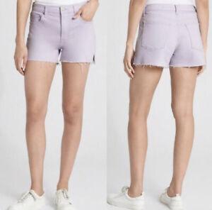 "Gap SZ 28 Hi-Rise Stretch Denim 3"" Shorts Lavender New With Tags"