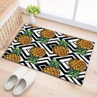 "Kitchen Decor Bathroom Non-Slip Bath Door Mat Rug Carpet Pineapple Design 24x16"""