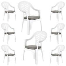 Pack de 6 rouge coussin plaquettes pour resol palma//cool plastique chaises de jardin