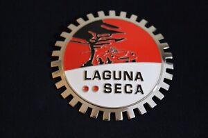 Chrome Laguna Seca Grille Badge Bumper License Topper Accessory Race Track CA
