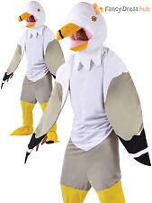 Adult Seagull Gull Costume Men Ladies Bird Fancy Dress Novelty Mascot All In One